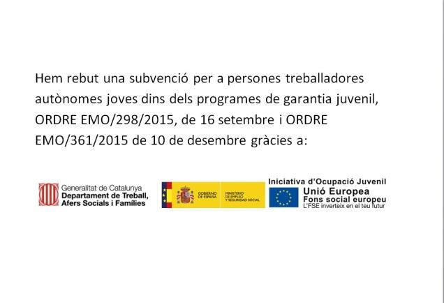 Subvención generalitat garantia juvenil autonomos